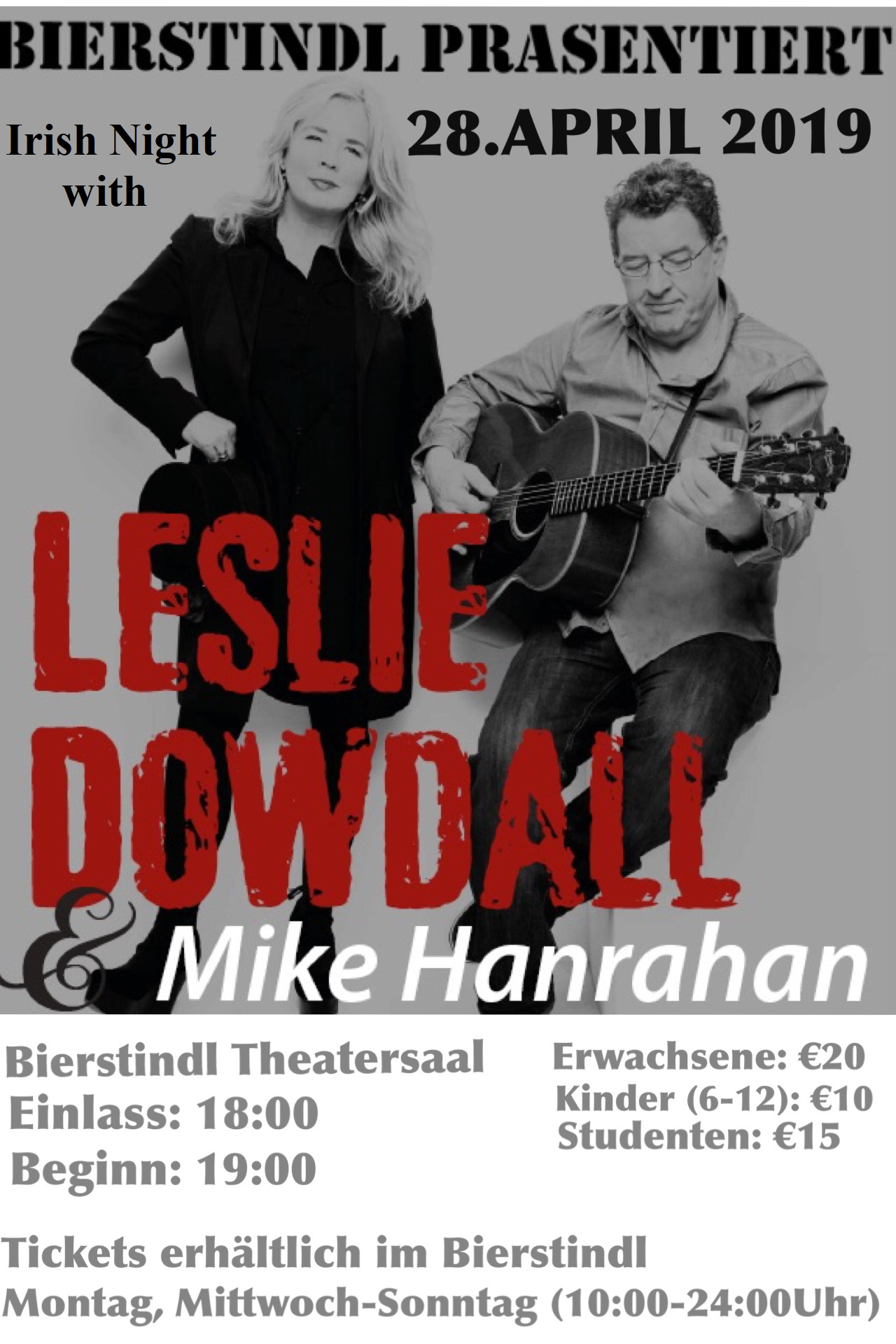 Irish Night with Leslie Dowdall and Mike Hanrahan